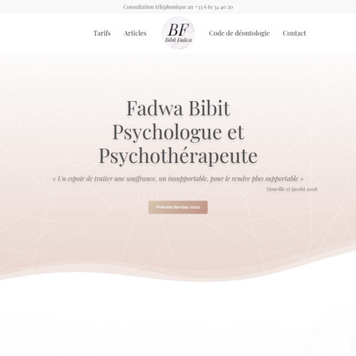 Fadwa Bibit Psychologue